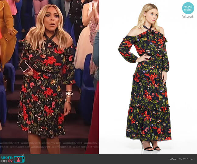 Rachel Maxi Dress by London Times worn by Wendy Williams on The Wendy Williams Show