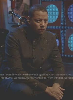 Lucious's black paint splattered jacket on Empire