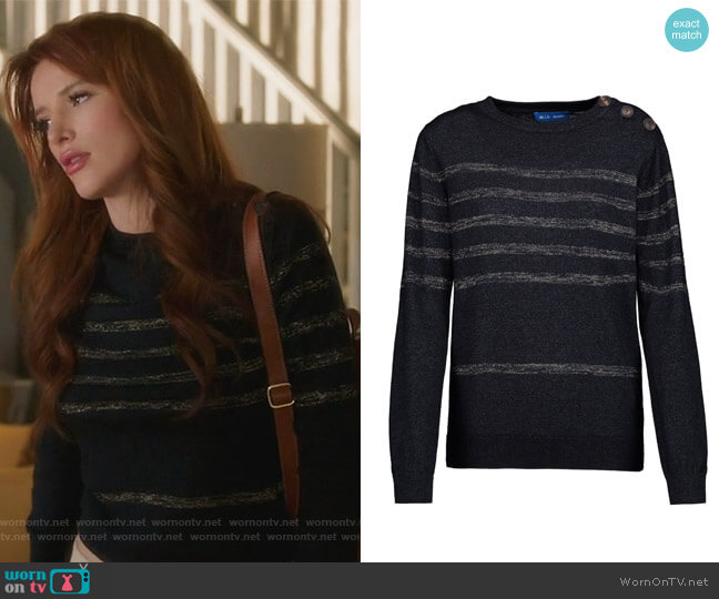Sophia Sweater by M.I.H Jeans worn by Bella Thorne on Famous in Love