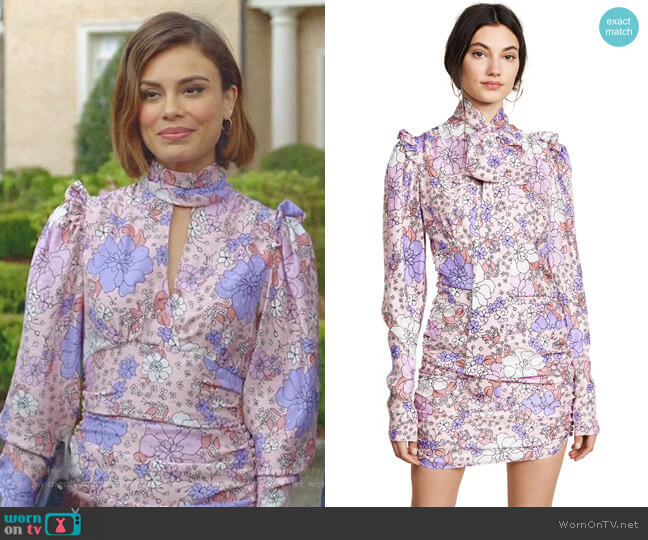 Kartagena Silk Dress by Magda Butrym worn by Nathalie Kelley on Dynasty