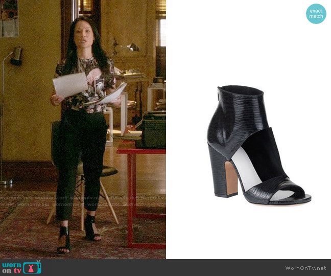Maison Margiela Cutout Sandal Bootie worn by Lucy Liu on Elementary