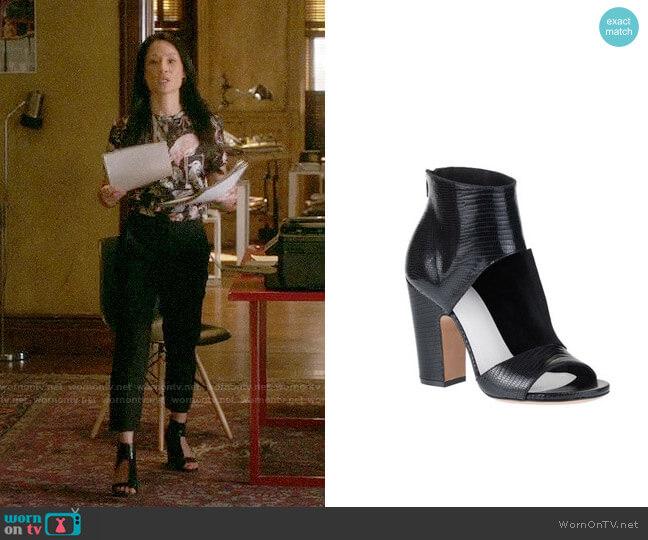 Maison Margiela Cutout Sandal Bootie worn by Joan Watson (Lucy Liu) on Elementary