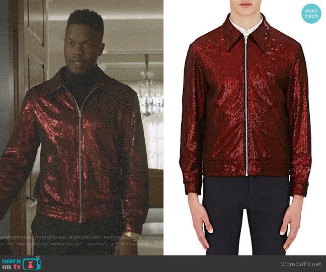 Sequin Bomber Jacket by Maison Margiela worn by Sam Adegoke on Dynasty