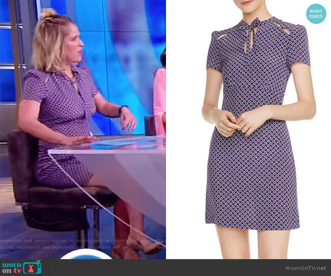 Ramba Floral-Print Cutout Silk Mini Dress by Maje worn by Sara Haines on The View