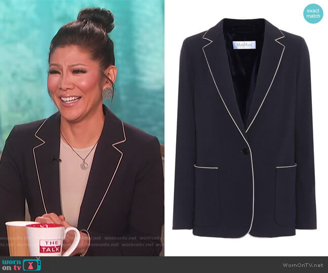 Faretra wool blazer by Max Mara worn by Julie Chen  on The Talk