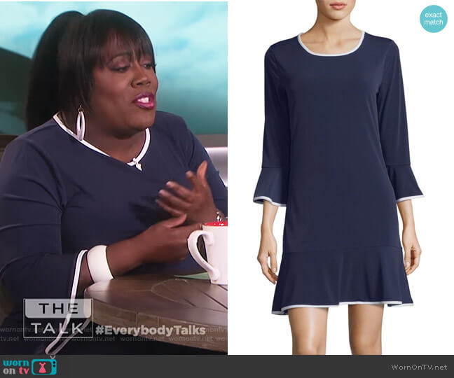 Bell-Sleeve Dress by MICHAEL Michael Kors worn by Sheryl Underwood  on The Talk