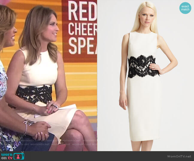 Wool Lace Waist Dress by Michael Kors worn by Savannah Guthrie  on Today