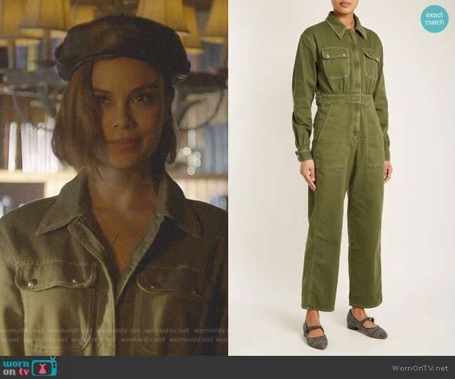 Oversized Straight-Leg Cotton-Blend Jumpsuit by Alexa Chung worn by Nathalie Kelley on Dynasty