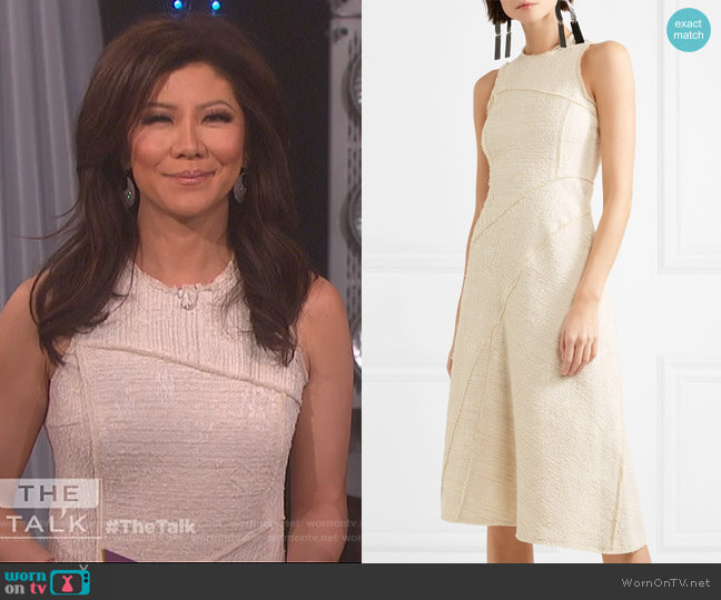 Sleeveless boulce-tweed dress by Proenza Schouler worn by Julie Chen  on The Talk