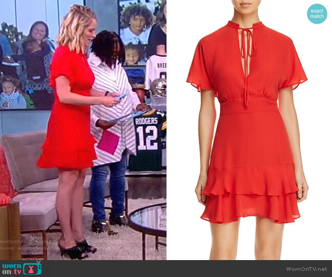Natalie Chiffon Dress by Parker worn by Sara Haines  on The View