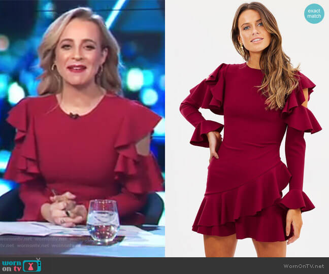 Girlfriend Dress by Pasduchas worn by Carrie Bickmore  on The Project
