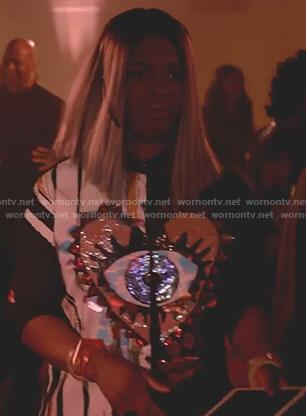 Porsha's black eye embellished shirtdress on Empire