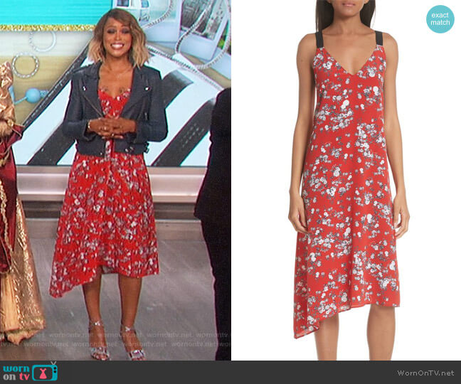 Zoe Floral-Print Dress by Rag and Bone worn by Eve  on The Talk
