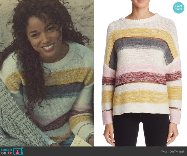 Daphne Stripe Sweater by Rails worn by Maia Roberts (Alisha Wainwright ) on Shadowhunters