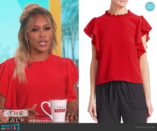 Summer Crepe Blouse by RED Valentino worn by Eve  on The Talk