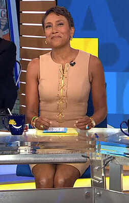 Robin's lace-up sleeveless dress on Good Morning America