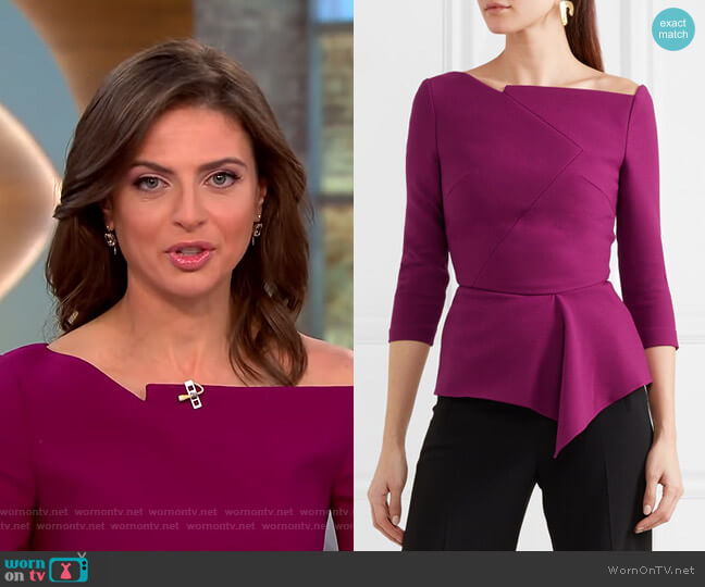 'Almeley' Top by Roland Mouret worn by Bianna Golodryga on CBS This Morning