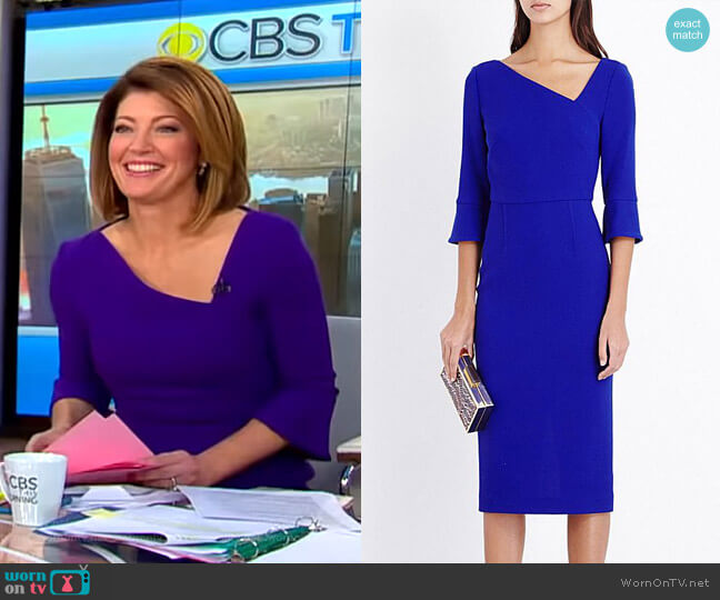 Danby Dress by Roland Mouret worn by Norah O'Donnell  on CBS This Morning