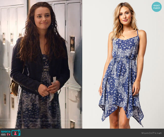 Hanky Dress by Socialite worn by Hannah Baker (	Katherine Langford) on 13 Reasons Why