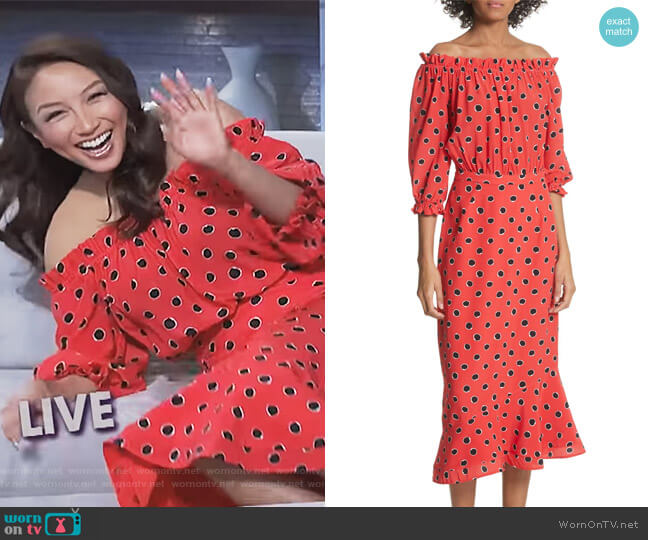 Grace Dress by Saloni worn by Jeannie Mai  on The Real