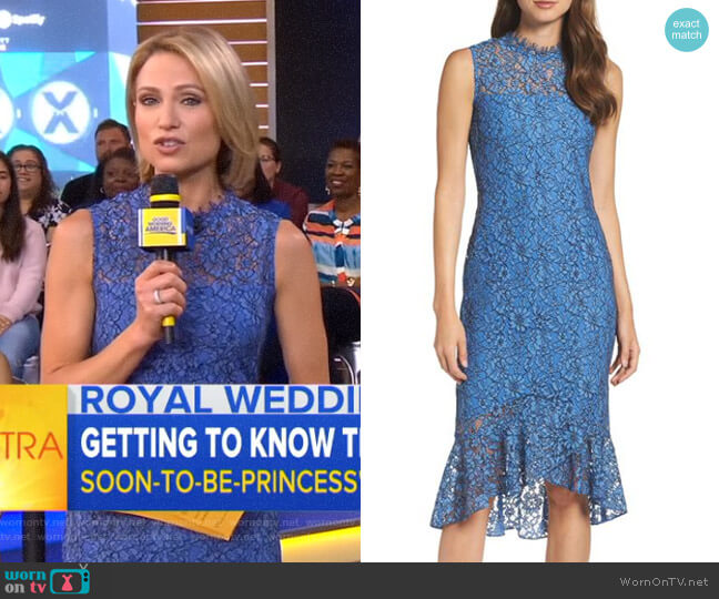 'Drayton' Midi Dress by Shoshanna worn by Amy Robach on Good Morning America