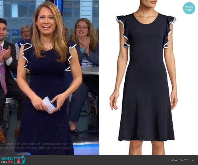 'Saya' Dress by Shoshanna worn by Ginger Zee on Good Morning America