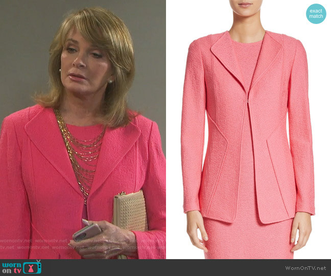 Hannah Knit Jacket by St John Collection worn by Melanie Jonas (Molly Burnett) on Days of our Lives