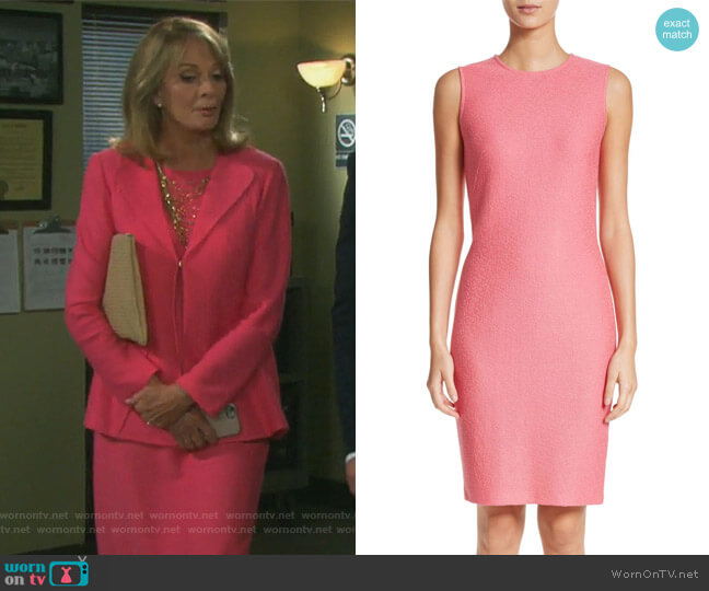 Hannah Knit Sheath Dress by St John Collection worn by Molly Burnett on Days of our Lives