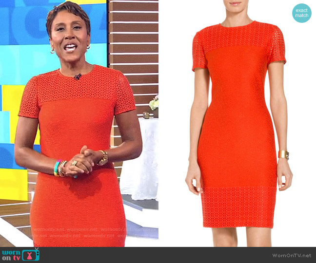 'Caris' Knit Dress by St John Collection worn by Robin Roberts on Good Morning America