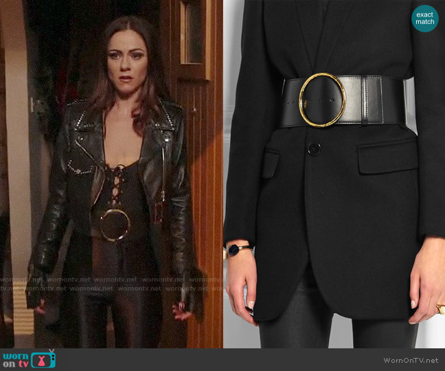 Stella McCartney Faux Leather Waist Belt worn by Alexandra Park on The Royals