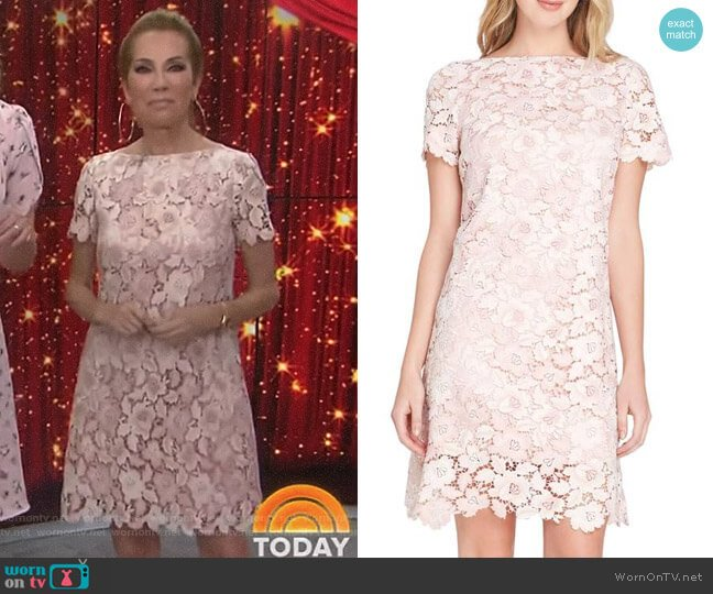 Lace Sheath Dress by Tahari ASL worn by Kathie Lee Gifford on Today