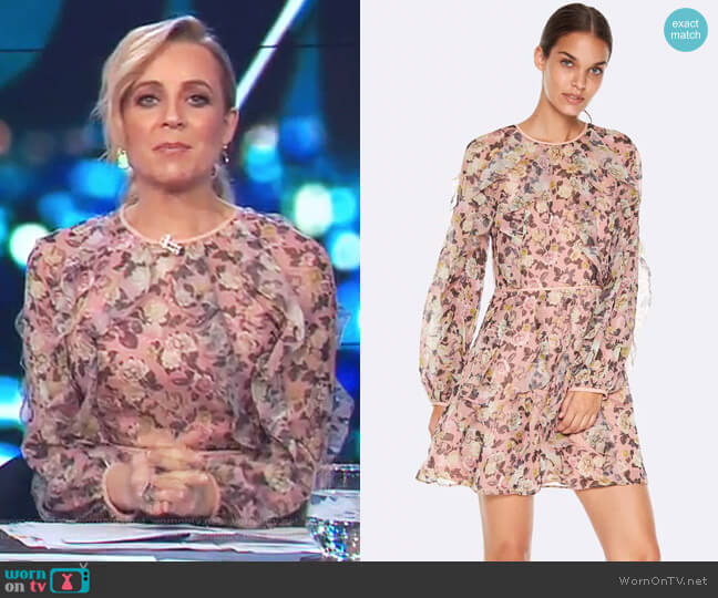 Playful L/S Mini Dress by Talulah worn by Carrie Bickmore on The Project