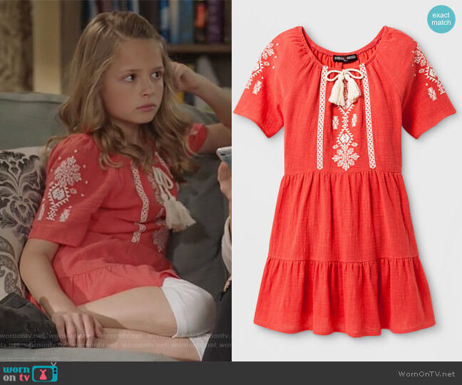 A Line Dress with Tassel by Stella & Sienna at Target worn by Sophia Hughes (Giselle Eisenberg) on Life in Pieces