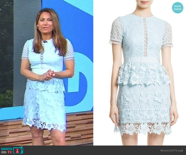 'Dixa' Dress by Ted Baker worn by Ginger Zee  on Good Morning America