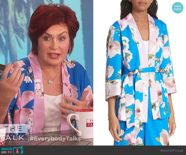 Harmony Pleat Back Kimono Jacket by Ted Baker worn by Sharon Osbourne on The Talk
