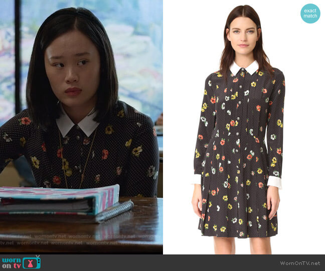 Camelia Dots Dress by The Kooples worn by Courtney Crimsen (Michele Selene Ang) on 13 Reasons Why