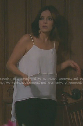 Theresa's white draped camisole on Days of our Lives
