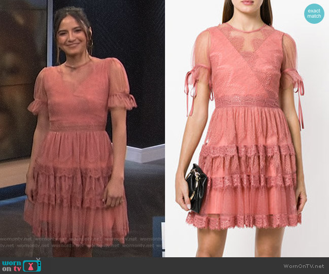 Lace Tiered Dress by Three Floor worn by Erin Lim  on E! News