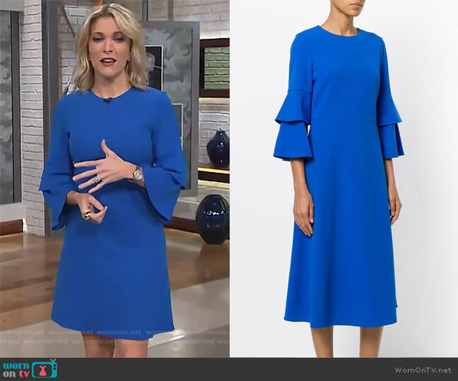 Crepe Bell-Sleeve Dress by Tibi worn by Megyn Kelly on Today