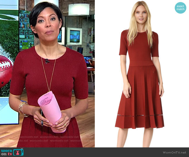 Tracy Dress by ALC worn by Alex Wagner (Alex Wagner) on CBS This Morning
