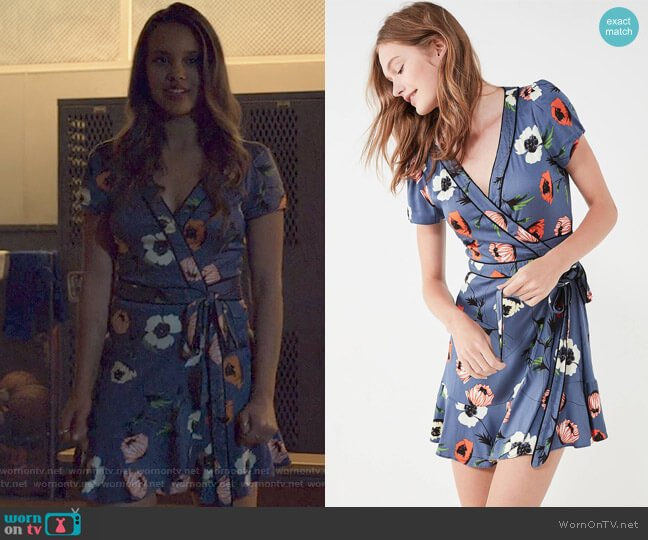 Rita Wrap Dress by Kimchi Blue at Urban Outfitters worn by Jessica Davis (Alisha Boe) on 13 Reasons Why
