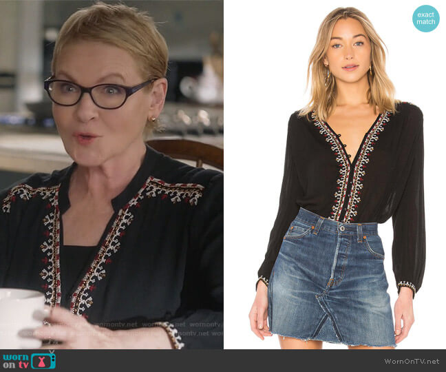 Remi Top by Velvet by Graham & Spencer worn by Dianne Wiest on Life in Pieces