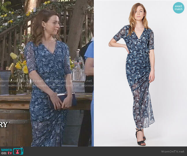 Mariposa Midi Dress by Veronica Beard worn by Amelia Shepherd (Caterina Scorsone) on Greys Anatomy