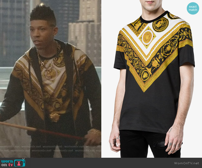 Cornici Print T Shirt by Versace worn by Bryshere Y. Gray on Empire