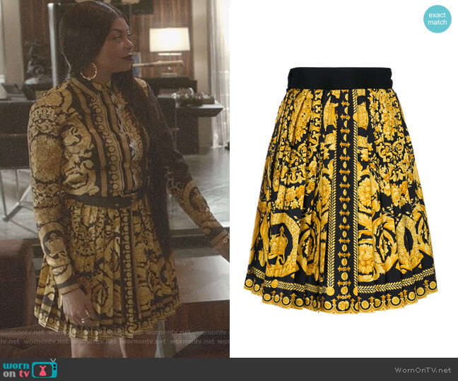 Baroque Print Skirt by Versace Vintage worn by Taraji P. Henson on Empire