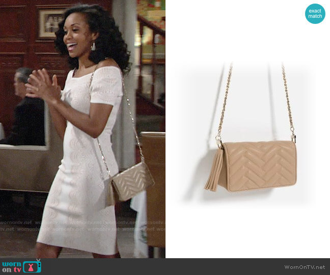 Zara Mini Cross-Body Bag worn by Mishael Morgan on The Young & the Restless