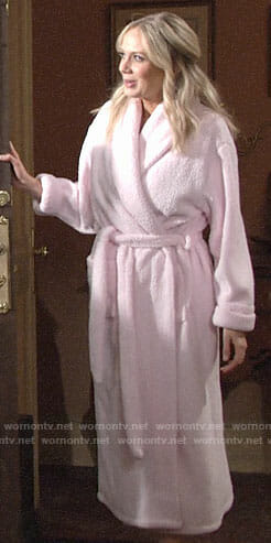Abby's pink robe on The Young and the Restless