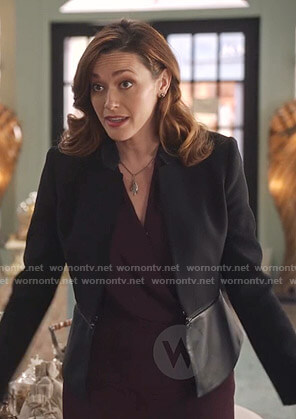 Abigail's black peplum jacket on Good Witch