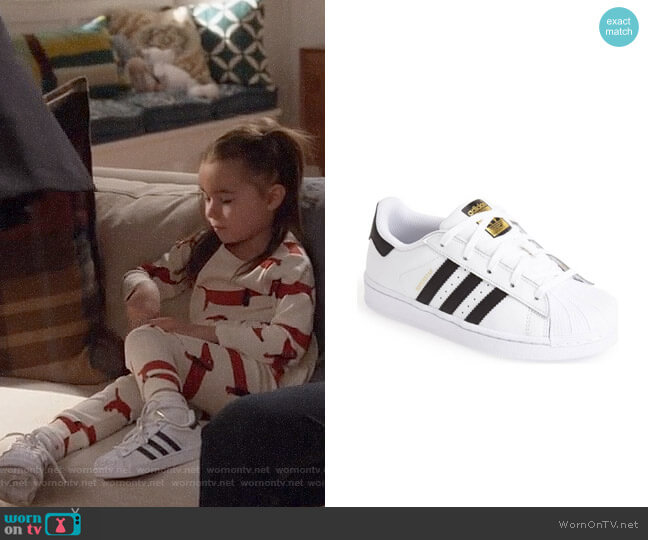 Adidas Superstar Sneakers worn by Danielle Rockoff on New Girl