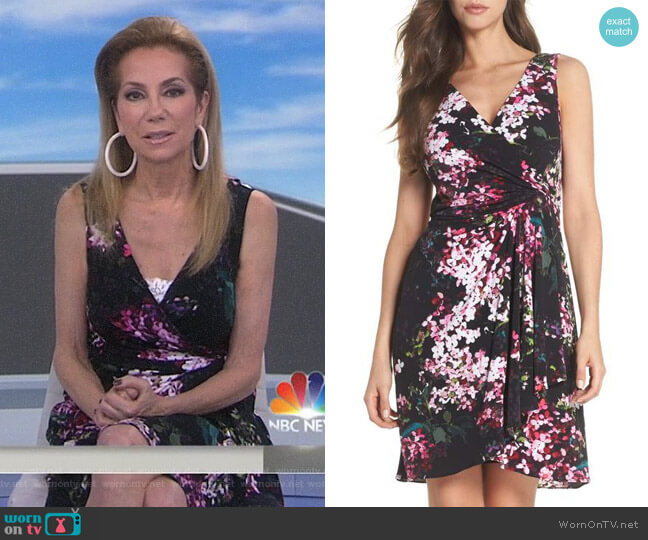 Floral Print Twist Front Dress by Adrianna Papell worn by Kathie Lee Gifford on Today